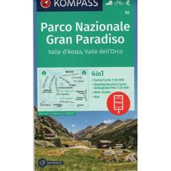 Kompass 86 NP Gran Paradiso, Valle d'Aosta 1:50 000 turistická mapa