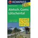 Kompass 122 Aletsch, Goms, Lötschental 1:40 000 turistická mapa