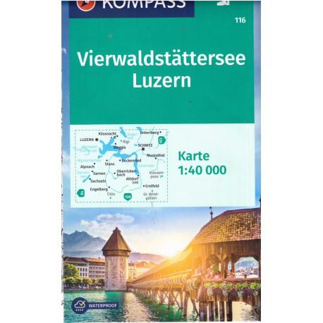 Kompass 116 Vierwaldstätter See, Luzern 1:50 000