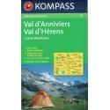 Kompass 115 Val d'Anniviers, Val d'Hérens, Crans-Montana 1:50 000 turistická mapa