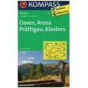 Kompass 113 Davos, Arosa, Prättigau, Klosters 1:40 000 turistická mapa