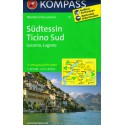 Kompass 111 Südtessin, Ticino jih, Locarno, Lugano 1:40 000 turistická mapa