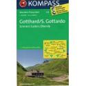 Kompass 108 Gotthard/S. Gottardo, Grimsel, Susten, Oberalp 1:40 000 turistická mapa