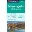 Kompass 99 Oberengadin, Alta Engadina 1:40 000 turistická mapa