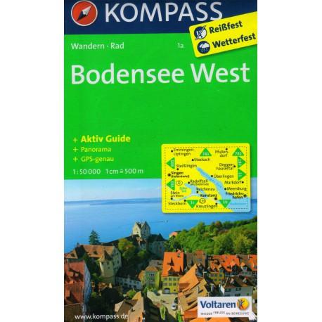 Kompass 1a Bodensee West 1:50 000