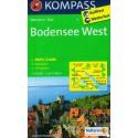 Kompass 1a Bodensee/Bodamské jezero západ 1:50 000 turistická mapa