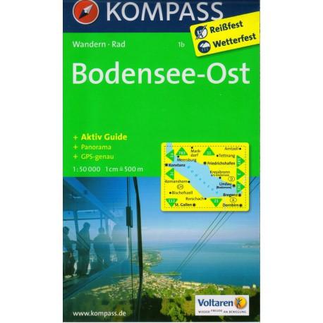 Kompass 1b Bodamské jezero (Bodensee) východ 1:50 000