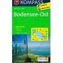 Kompass 1b Bodensee/Bodamské jezero východ 1:50 000 turistická mapa