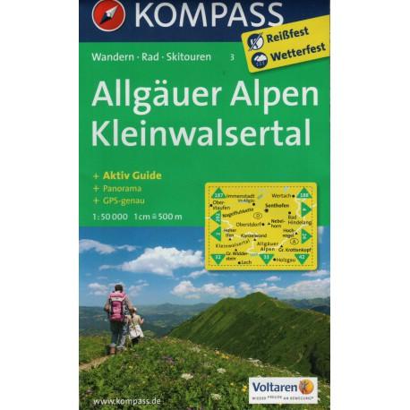 Kompass 3 Allgäuer Alpen, Kleinwalsertal 1:50 000
