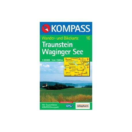 Kompass 16 Traunstein, Waginger See 1:50 000