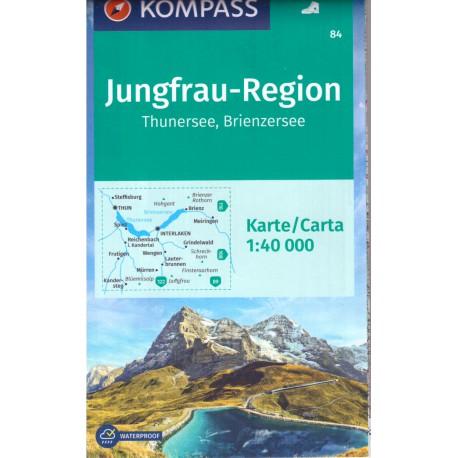Kompass 84 Jungfrau-Region, Thuner See, Brienzer See 1:50 000