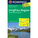 Kompass 84 Jungfrau-Region, Thuner See, Brienzer See 1:40 000 turistická mapa