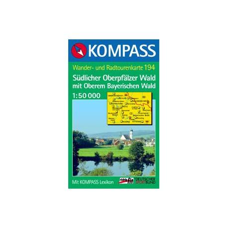 Kompass 194 Südlicher Oberpfälzer Wald 1:50 000