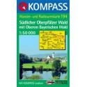 Kompass 194 Südlicher Oberpfälzer Wald 1:50 000 turistická mapa
