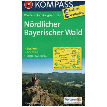Kompass 195 Nördlicher Bayerischer Wald 1:50 000