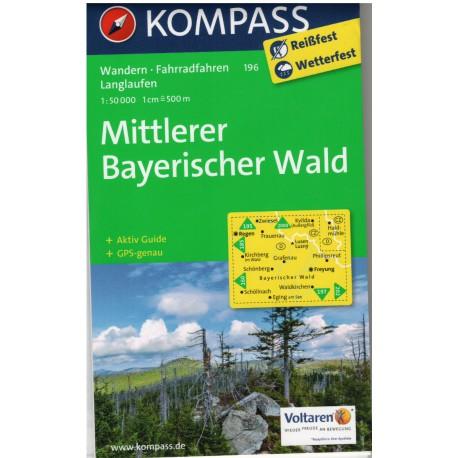 Kompass 196 Mittlerer Bayerischer Wald 1:50 000