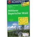 Kompass 196 Mittlerer Bayerischer Wald 1:50 000 turistická mapa