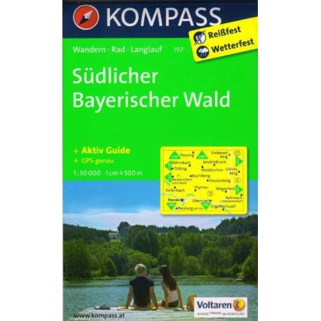 Kompass 197 Südlicher Bayerischer Wald 1:50 000