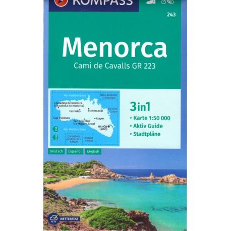 Kompass 243 Menorca 1:50 000