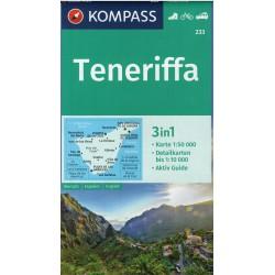 Kompass 233 Teneriffa 1:50 000 turistická mapa