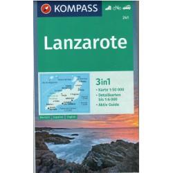Kompass 241 Lanzarote 1:50 000 turistická mapa