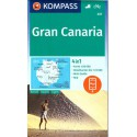 Kompass 237 Gran Canaria 1:50 000 turistická mapa