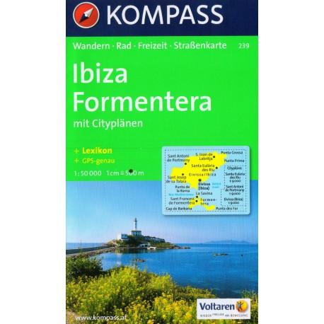 Kompass 239 Ibiza, Formentera 1:50 000