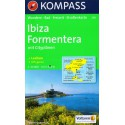 Kompass 239 Ibiza, Formentera 1:50 000 turistická mapa
