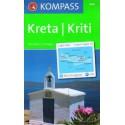 Kompass 244 Kréta 1:140 000 turistická mapa