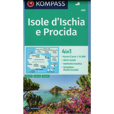 Kompass 680 Isole d'Ischia e Procida 1:1 500