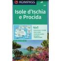 Kompass 680 Isole d'Ischia, Procida 1:15 000 turistická mapa
