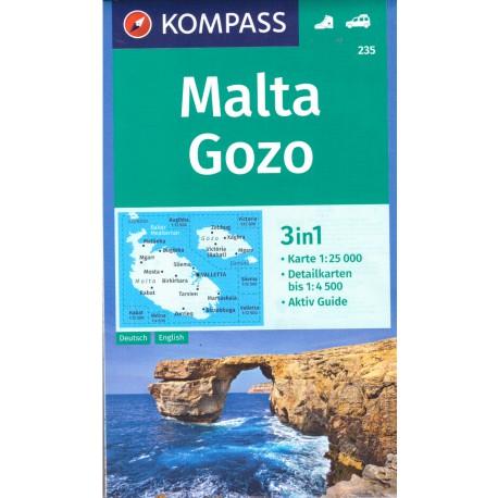 Kompass 235 Malta, Gozo 1:25 000
