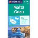 Kompass 235 Malta, Gozo 1:25 000 turistická mapa