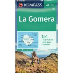 Kompass 231 La Gomera 1:30 000 turistická mapa