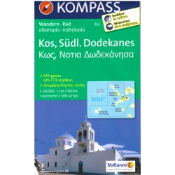 Kompass 252 Kos, Südl. Dodekanes 1:50 000 turistická mapa
