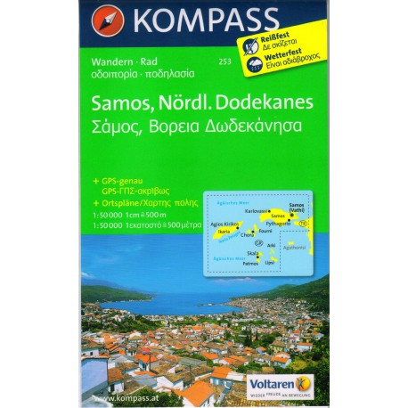 Kompass 253 Samos, Nördl. Dodekanes 1:50 000