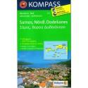 Kompass 253 Samos, Nördl. Dodekanes 1:50 000 turistická mapa
