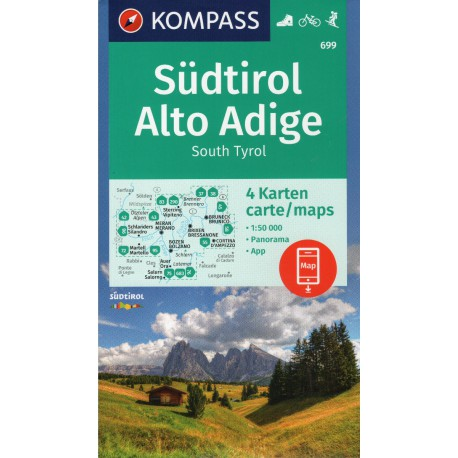 Kompass 699 Südtirol, Alto Adige 1:50 000