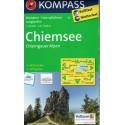 Kompass 10 Chiemsee, Chiemgauer Alpen 1:50 000 turistická mapa