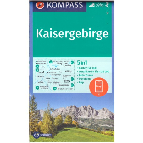 9 Kaisergebirge 1:50 000