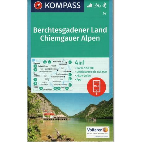 Kompass 14 Berchtesgadener Land, Chiemgauer Alpen 1:50 000