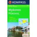 Kompass 249 Mykonos 1:35 000 turistická mapa