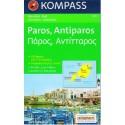 Kompass 251 Paros, Antiparos 1:40 000 turistická mapa