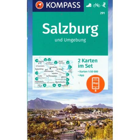Kompass 291 Rund um Salzburg 1:50 000