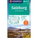 Kompass 291 Rund um Salzburg 1:50 000 turistická mapa