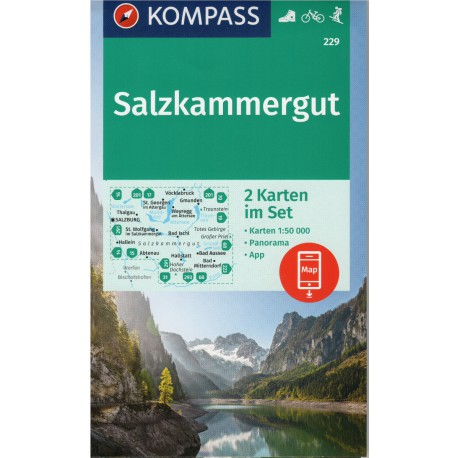 Kompass 229 Salzkammergut 1:50 000