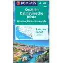 Kompass 2900 Kroatien Dalmatinische Küste/Dalmátské pobřeží 1:100 000 turistická mapa
