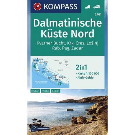Kompass 2901 Dalmatinische Küste Nord 1:100 000