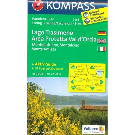 Kompass 2463 Lago Trasimeno, Val d'Orcia 1:50 000 turistická mapa