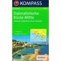 Kompass 2902 Dalmatinische Küste Mitte 1:100 000 turistická mapa